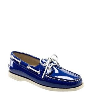 Sperry Top Sider Blue Patent Boat Deck Shoes